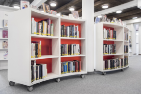 BCI Mobile Curved Shelving