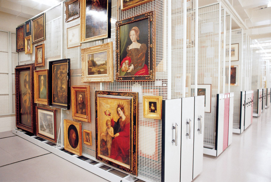 Spacesaver Art Racks in Museum