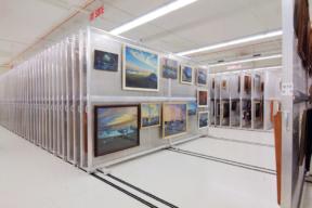 Spacesaver Art Rack in Museum
