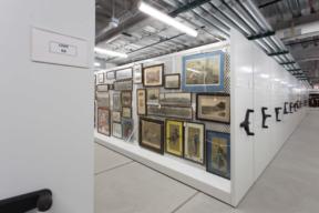 Spacesaver Art Racks in Museum
