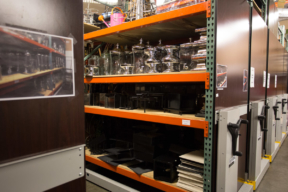 Spacesaver Mobile Shelving at Catering Company