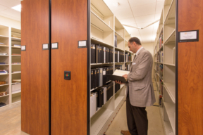 Spacesaver Mobile Shelving at The National Library for the Study of George Washington