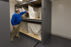 Oversized museum storage for large artifacts at Historic St. Mary's