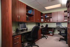 Laminate Hamilton Casework for hospital workstations