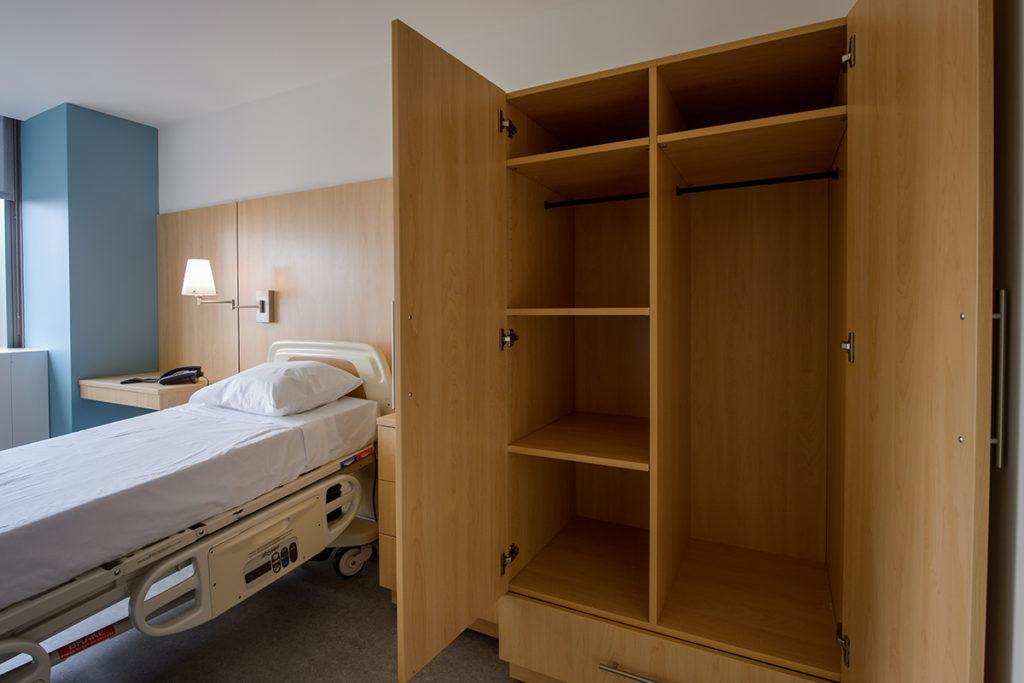 Laminate Hamilton Casework for patient storage in hospital