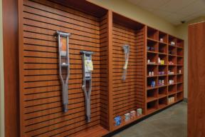 Laminate Hamilton Casework medical supply storage