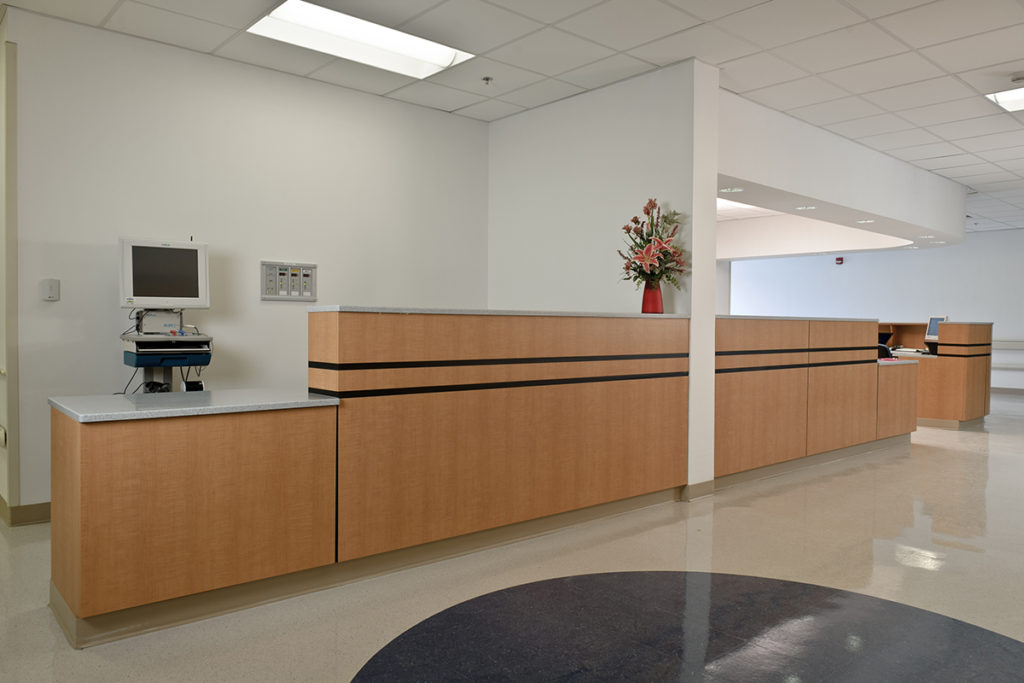 Laminate Hamilton Casework hospital workstation