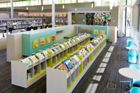 Anacostia Library kids book shelving - Library Shelving
