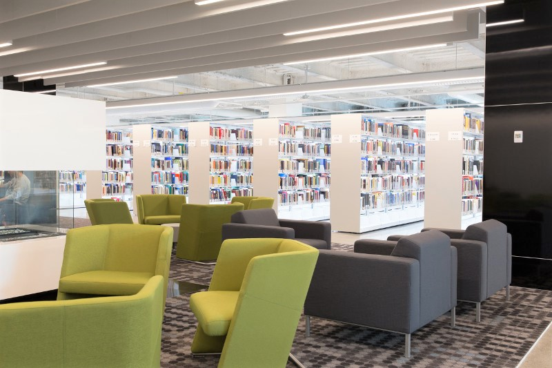 Spacesaver Library Shelving and Lobby