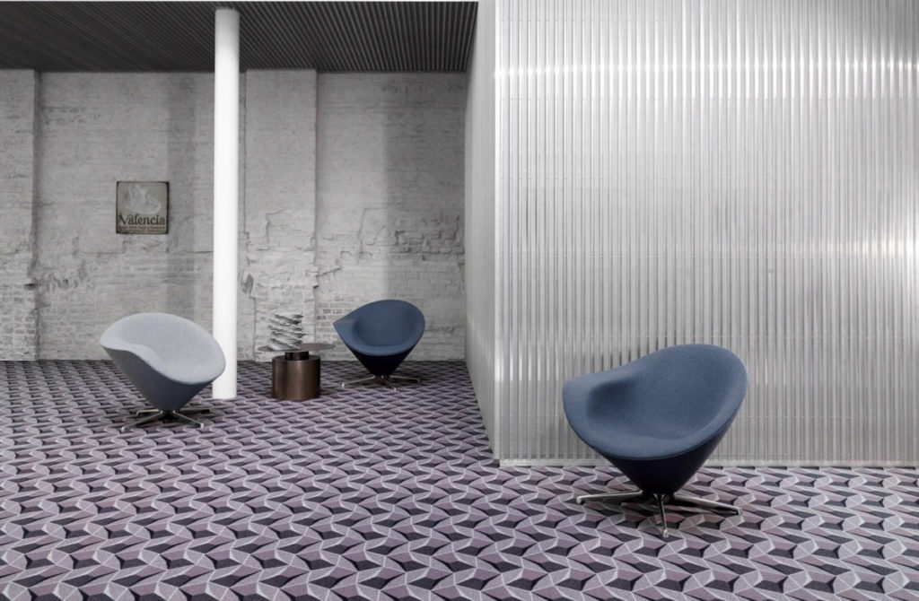 Broadloom carpet in commercial building