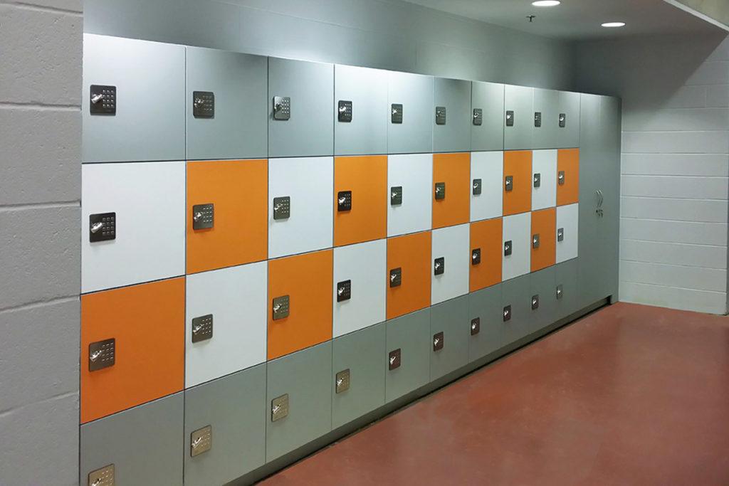 Hamilton Lockers in educational facility