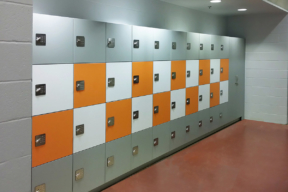 Hamilton Lockers in educational facility