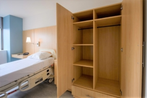 Laminate Hamilton Casework for patient storage in hospital