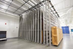 Art Racks at the National Holocaust Museum - Museum Storage