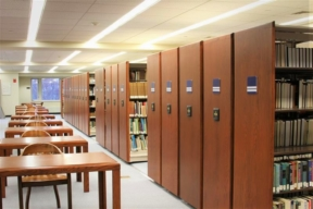 Spacesaver Mobile Shelving in Library