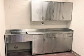 Eagle Stainless steel casework with sink