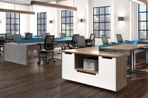 Enwork Workstation in Open Plan Work Environment