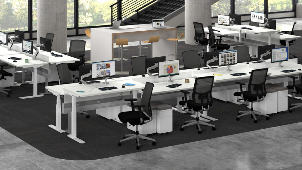 Enwork Workstation in Open Plan Work Environment
