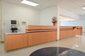 Laminate Hamilton Casework for hospital workstations