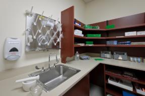 Laminate Hamilton Casework hospital supply storage
