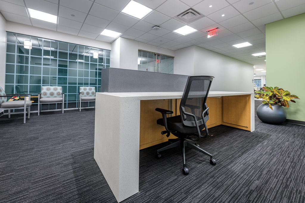 Laminate Hamilton Casework for medical office workstations