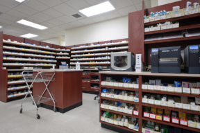 Laminate Hamilton Casework for pharmacy storage