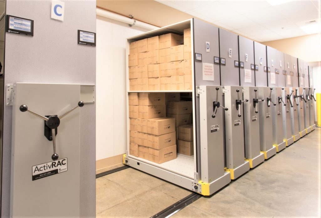 Spacesaver High-Density Mobile Shelving