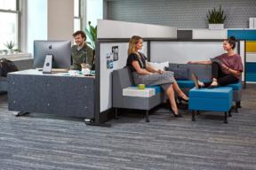KI Workstation in Open Plan Work Environment