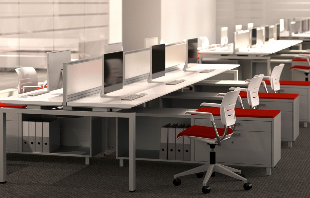 KI Workstation in Open Plan Work Environment