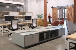 KI Workstation in Open Plan Environment