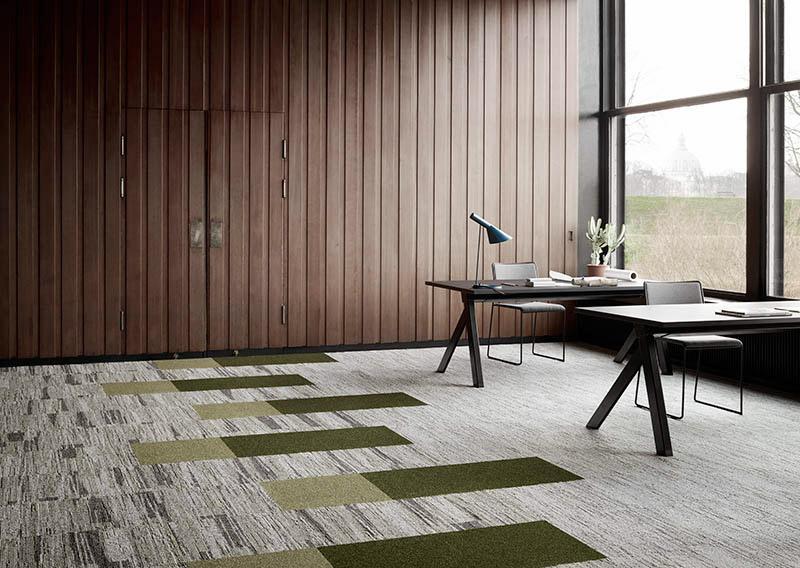 Carpet tile  install in office environment