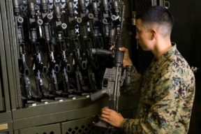 Spacesaver Military Weapons Cabinet