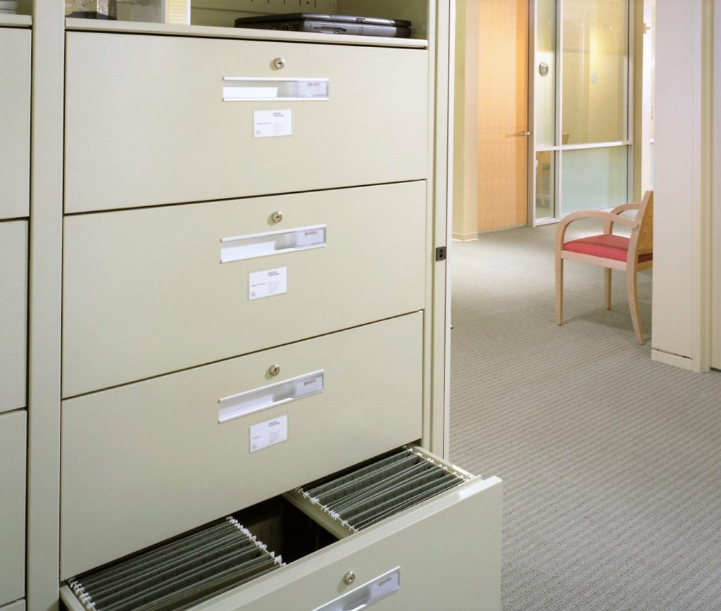 Spacesaver Office Pull-Out Shelving