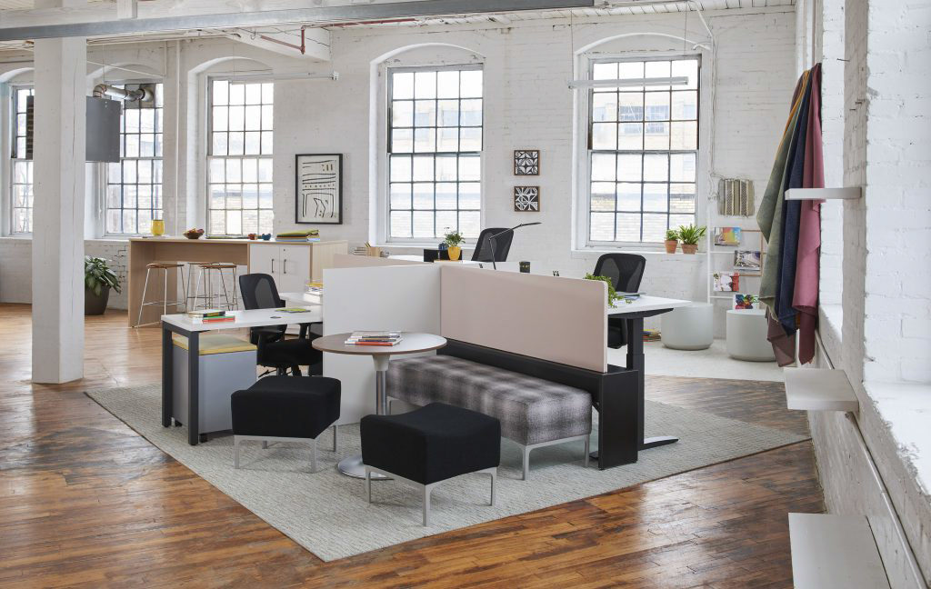 Trendway Workstation in Open Plan Work Environment