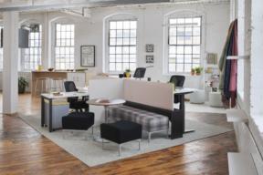 Trendway Workstation in Open Plan Work Environment