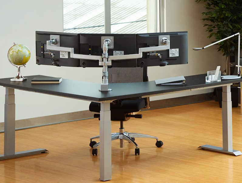 Workrite Ergonomics multi monitor arms