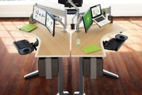 Workrite Ergonomics multi monitor arms