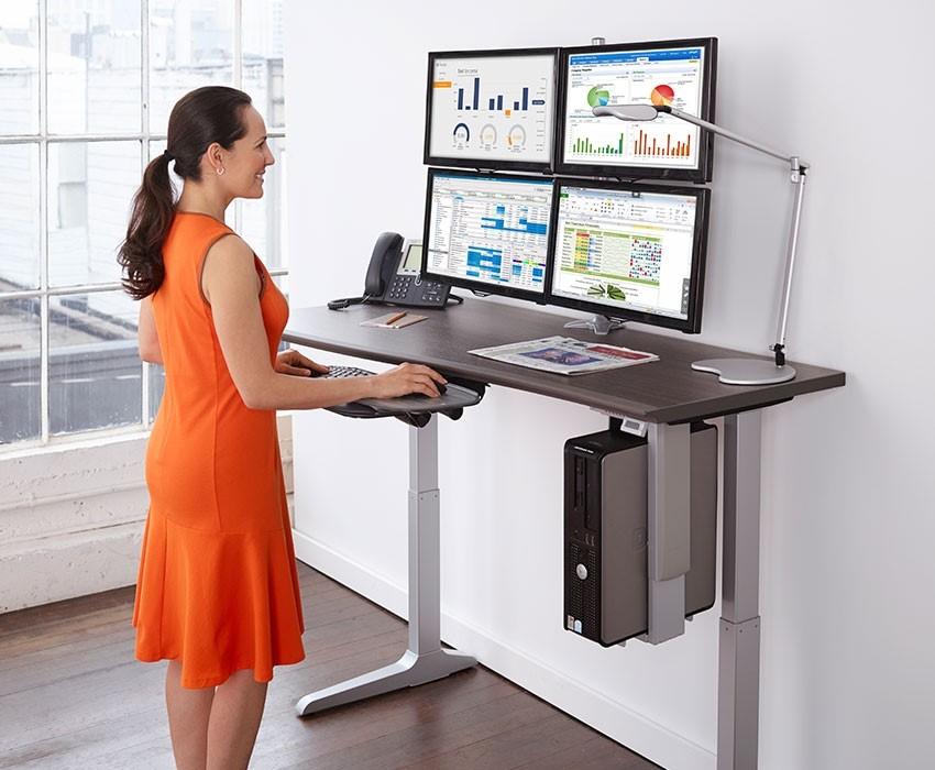 Workrite Ergonomics multi monitor