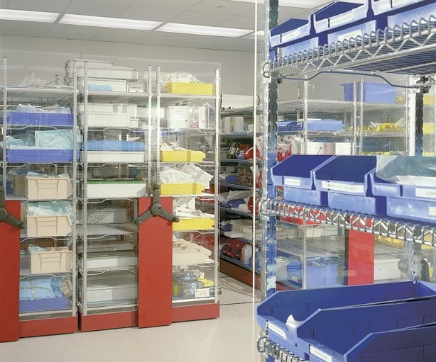 Spacesaver wire shelving