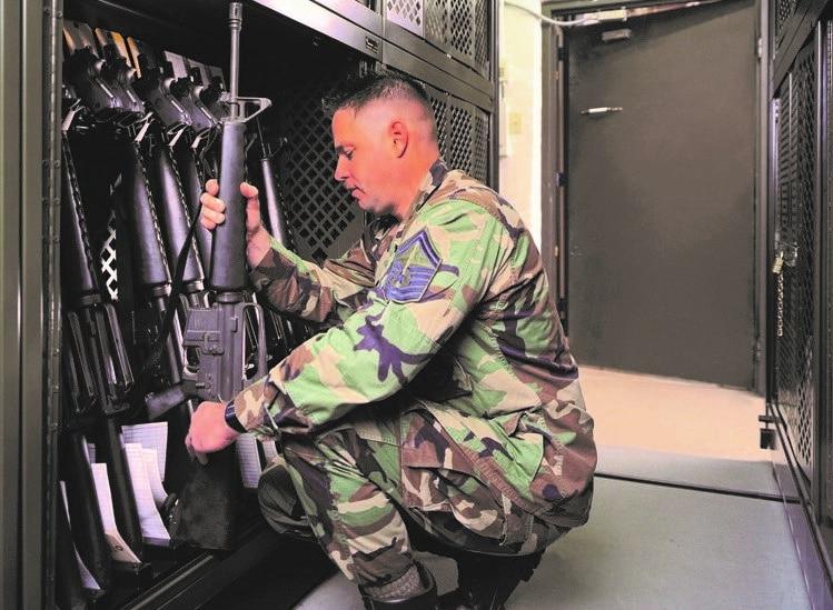 Spacesaver weapons rack