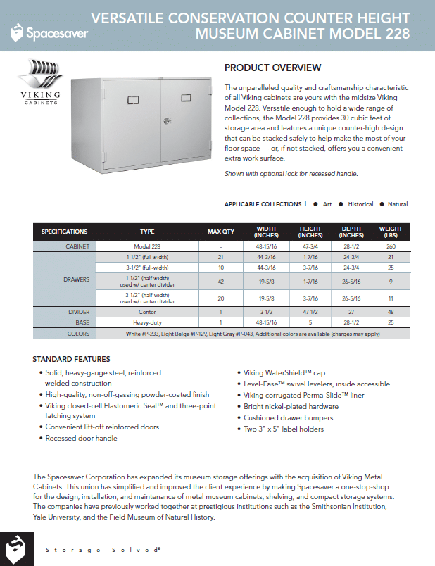 228 Conservation Counter Height Cabinet