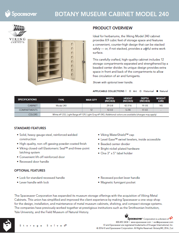 240 Botany Counter High Single Door Cabinet