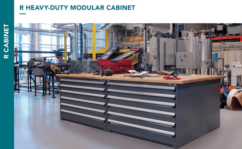 rousseau metal r-heavy duty modular cabinet brochure