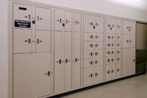 Pass Thru Evidence storage lockers at Franklin Police Department