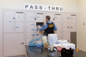 Pass through evidence lockers - secure the chain of custody