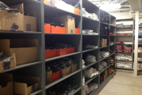 4-Post Shelving for Maintenance and Supplies at Iowa University