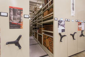 Archival Artwork on Mechanical Assist Mobile Shelving