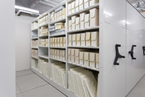 Archival Preservation Storage on Mechanical Assist Mobile Shelving