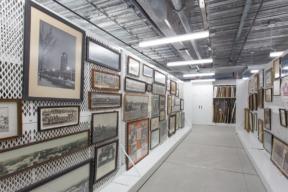 Mobile Art Racks Preserving Framed Artwork