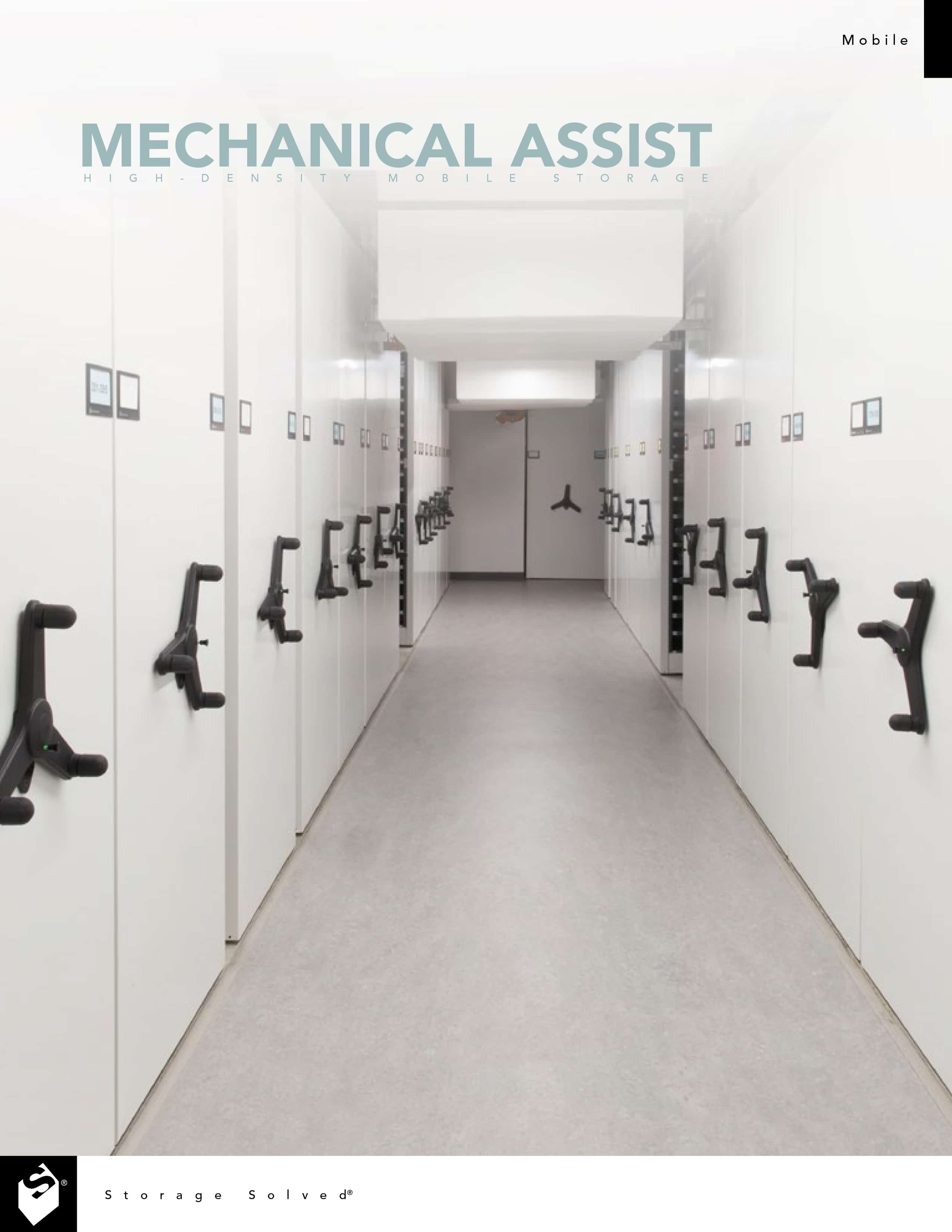 Mechanical-Assist Mobile Shelving Brochure